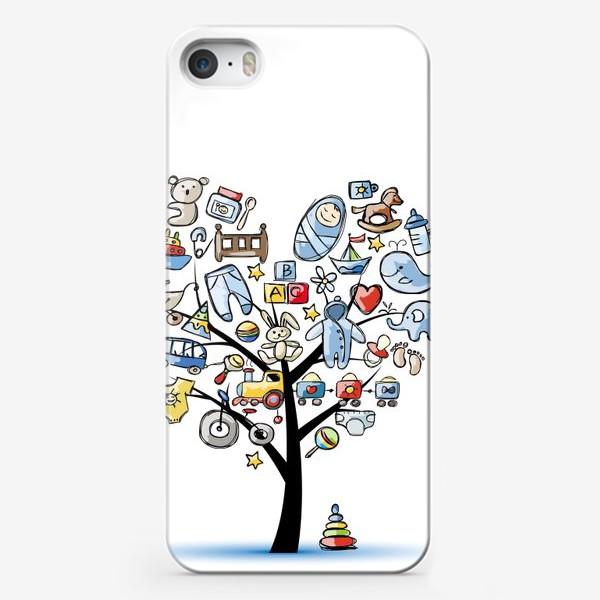 Чехол iPhone «Дерево с игрушками»