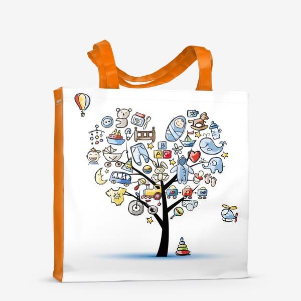 Сумка-шоппер «Дерево с игрушками»