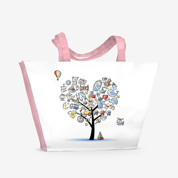Пляжная сумка «Дерево с игрушками»