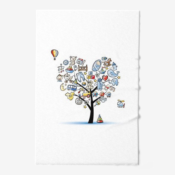Полотенце «Дерево с игрушками»
