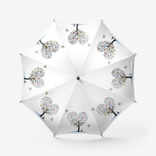 Зонт «Дерево с игрушками»