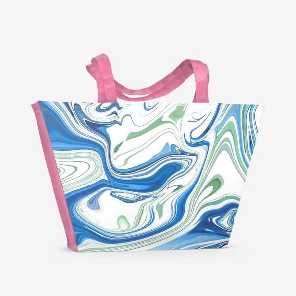 Пляжная сумка «Весенние ручьи»