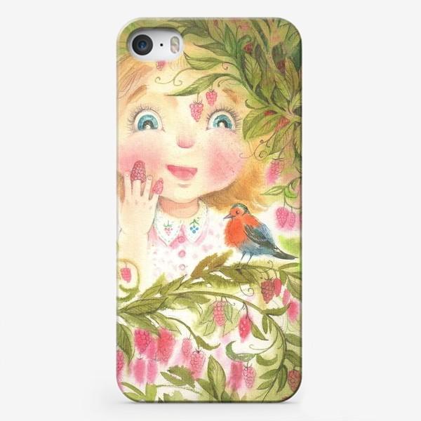 Чехол iPhone «малиновка»