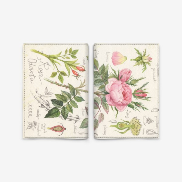 Обложка для паспорта «чайная роза»