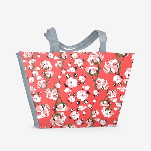 Пляжная сумка «Нежность хлопок природа нюд»