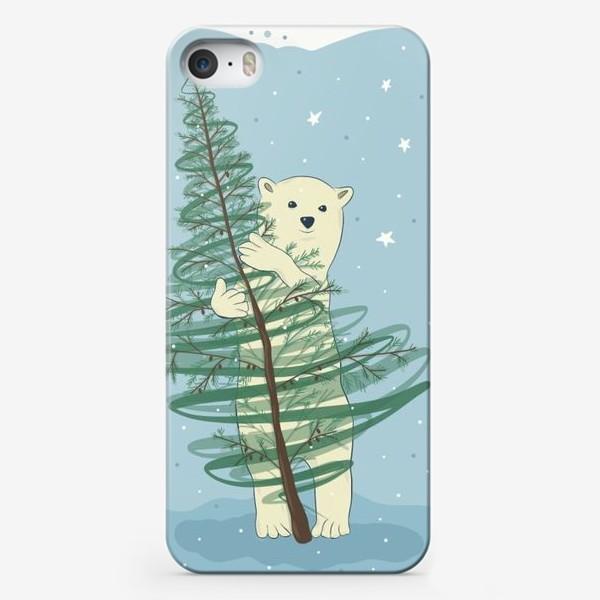 Чехол iPhone «Белый мишка»