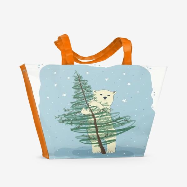 Пляжная сумка «Белый мишка»