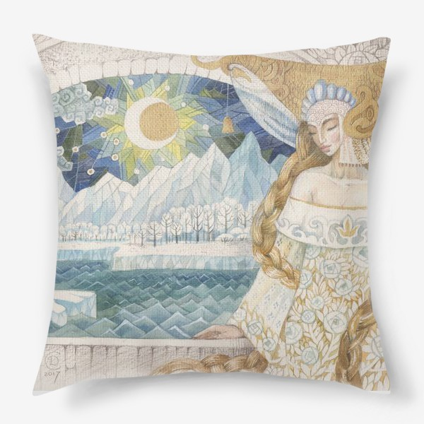 Подушка «северное сияние»