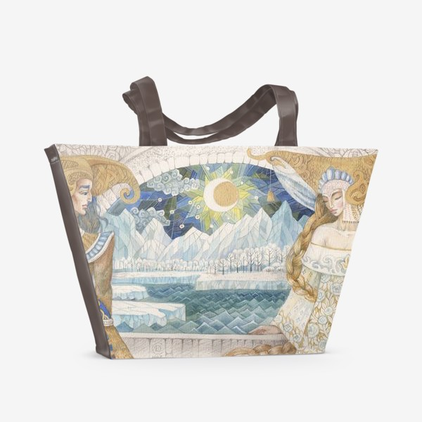 Пляжная сумка «северное сияние»