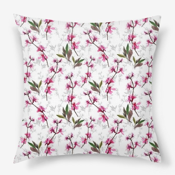 Подушка «Pink flowers»