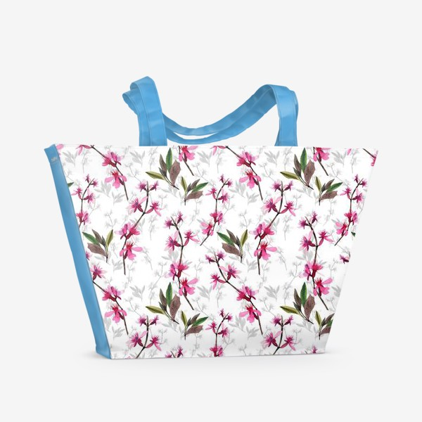 Пляжная сумка «Pink flowers»
