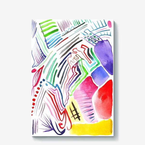 Холст «Цветная абстракция»