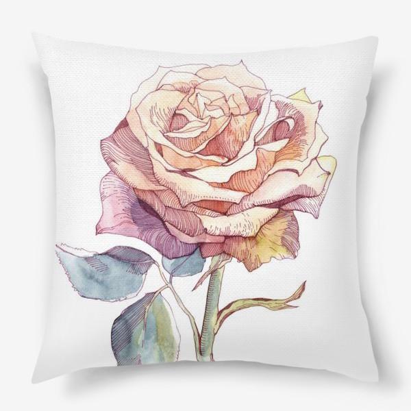 Подушка «Персиковая роза»