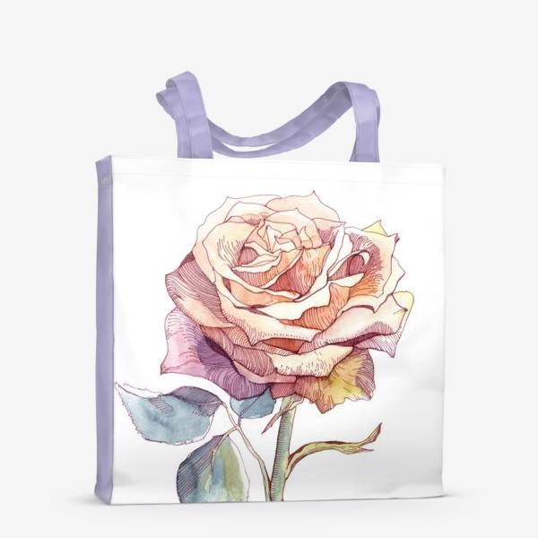 Сумка-шоппер «Персиковая роза»