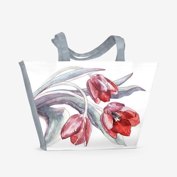 Пляжная сумка «Тюльпаны»