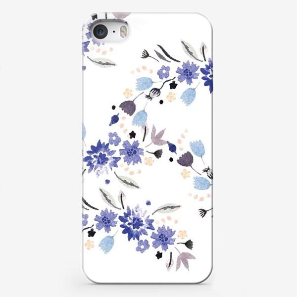 Чехол iPhone «Весенние синие цветы»