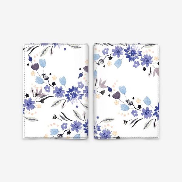 Обложка для паспорта «Весенние синие цветы»