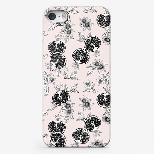 Чехол iPhone «Гранаты: цветы и фрукты»
