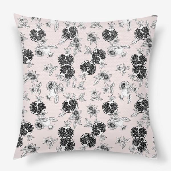 Подушка «Гранаты: цветы и фрукты»