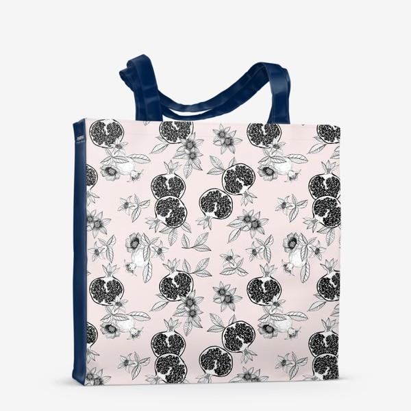Сумка-шоппер «Гранаты: цветы и фрукты»