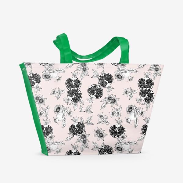 Пляжная сумка «Гранаты: цветы и фрукты»