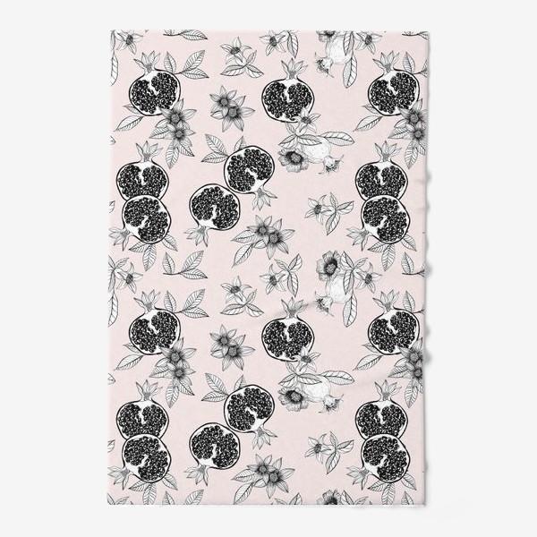 Полотенце «Гранаты: цветы и фрукты»