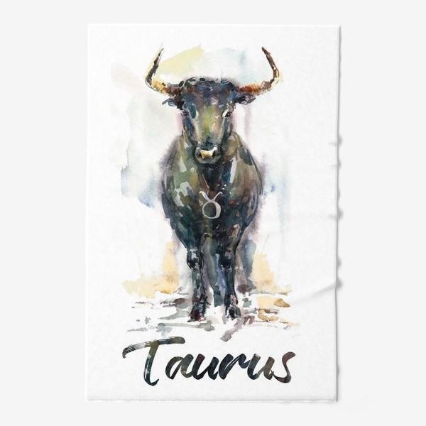 Полотенце «Taurus / Телец. Акварель»