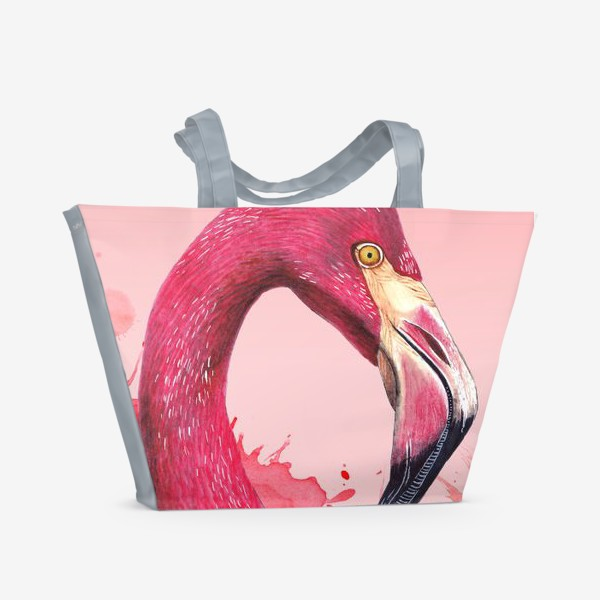 Пляжная сумка «Розовый фламинго»