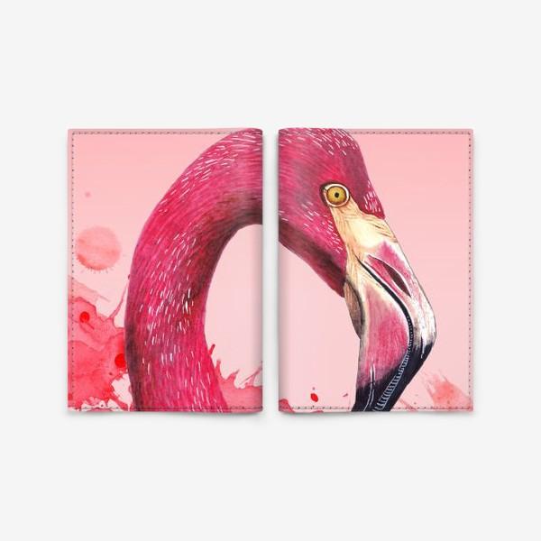 Обложка для паспорта «Розовый фламинго»