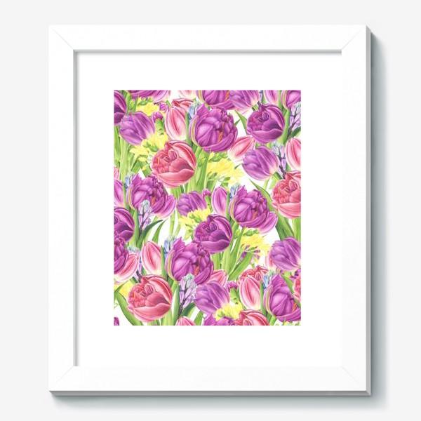 Картина «Яркий цветочный принт с тюльпанами»