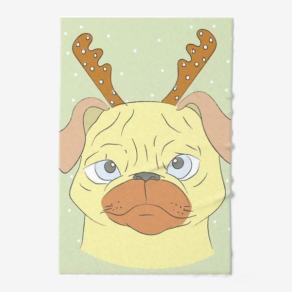 Полотенце «Рождественский мопс»