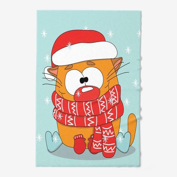 Полотенце «Котик в шарфе»