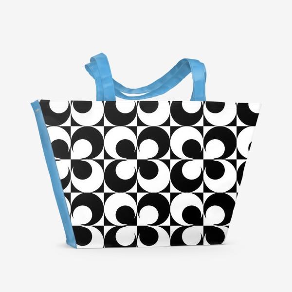 Пляжная сумка «Черно-белые круги»