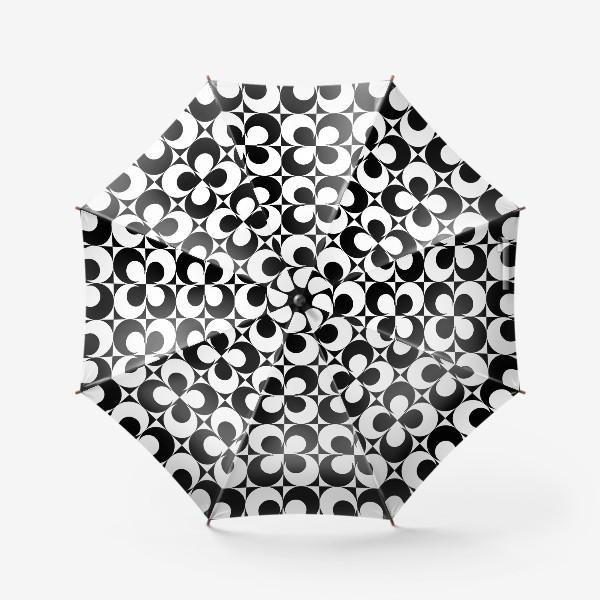 Зонт «Черно-белые круги»