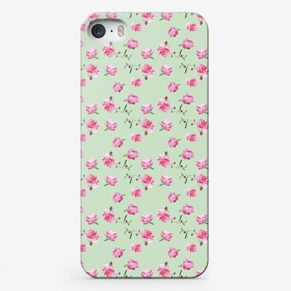 Чехол iPhone «Пионы на мятном»