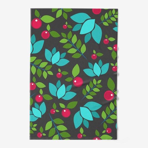 Полотенце «Цветочно-ягодный узор»