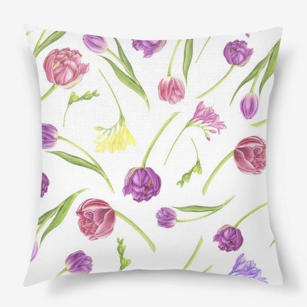 Подушка «Весенние цветы»