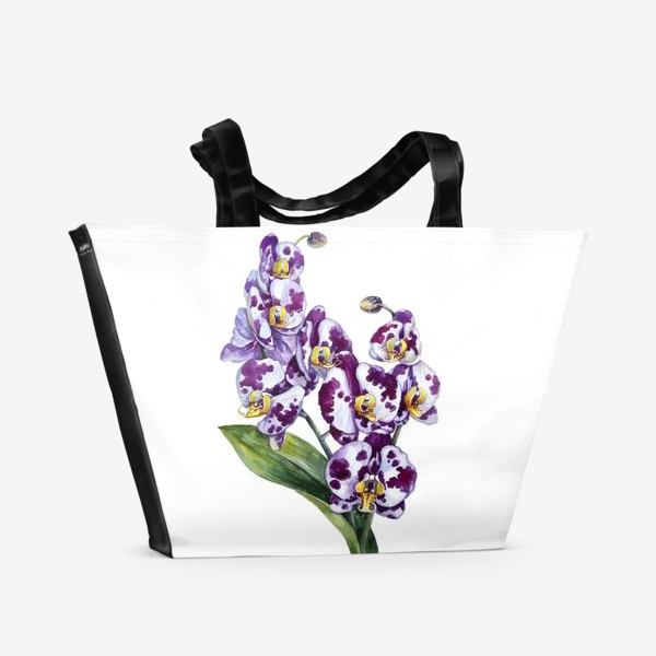 Пляжная сумка «Пятнистая орхидея»