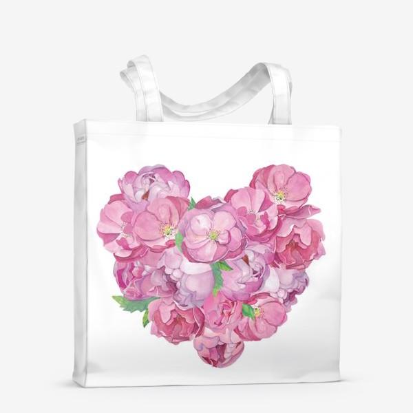 Сумка-шоппер «Pink Flower Heart»