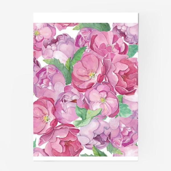 Постер «Flower Power (pink peonies&roses)»