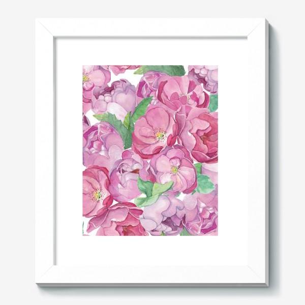 Картина «Flower Power (pink peonies&roses)»