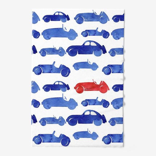 Полотенце «Синие машинки»