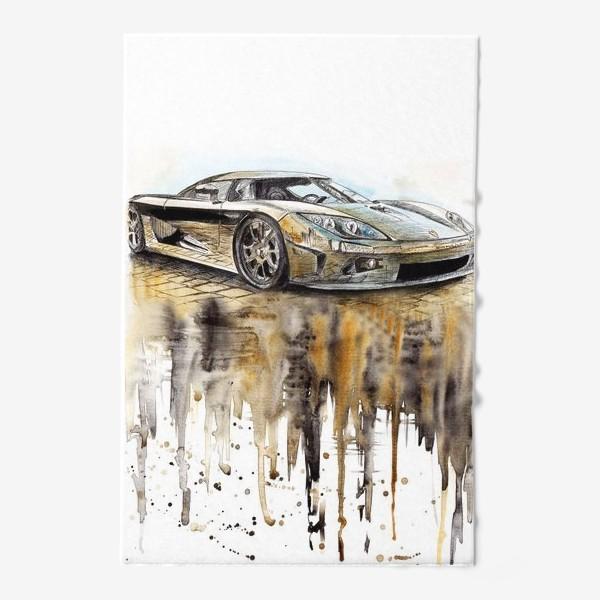 Полотенце «Спортивный автомобиль, зеркальный»