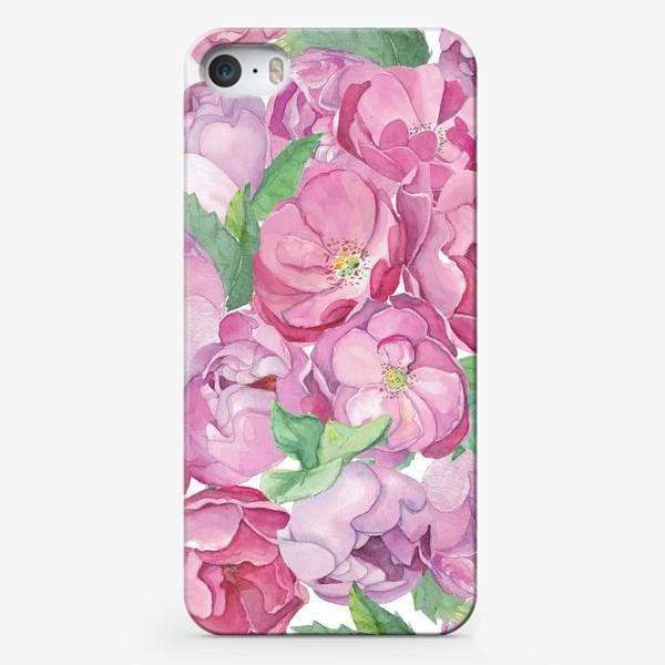Чехол iPhone «Flower Power (pink peonies&roses)»