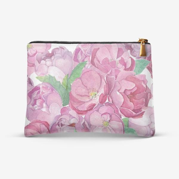 Косметичка «Flower Power (pink peonies&roses)»