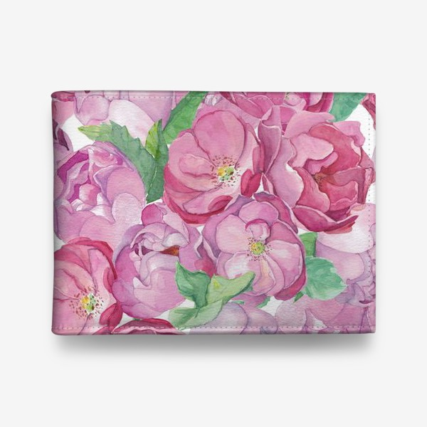 Кошелек «Flower Power (pink peonies&roses)»