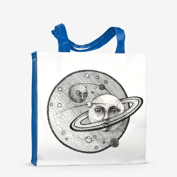 Сумка-шоппер «Сатурн и Титан, стилизация под средневековую гравюру»