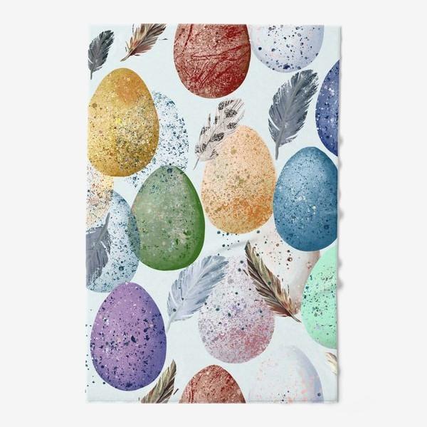 Полотенце «Яйца и перья.»