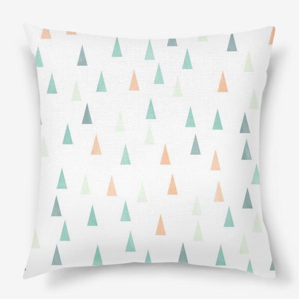 Подушка «Скандинавские елочки»