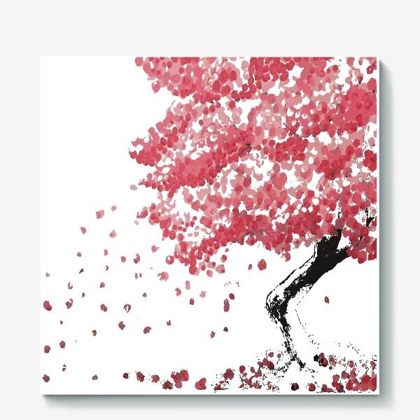 Холст «Дерево Сакура в цветении»